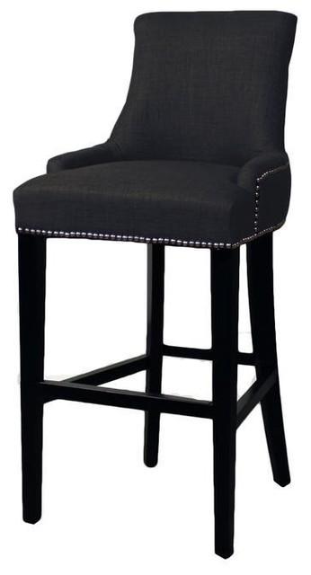 Peachy Sovo Eckhard Fabric Bar Stool Charcoal Theyellowbook Wood Chair Design Ideas Theyellowbookinfo