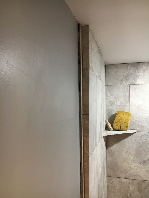 Tile shower uneven wall