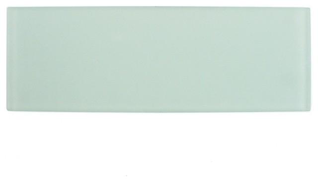 """Contempo 4""""x12"""" Glass Subway Tile, Seafoam"""