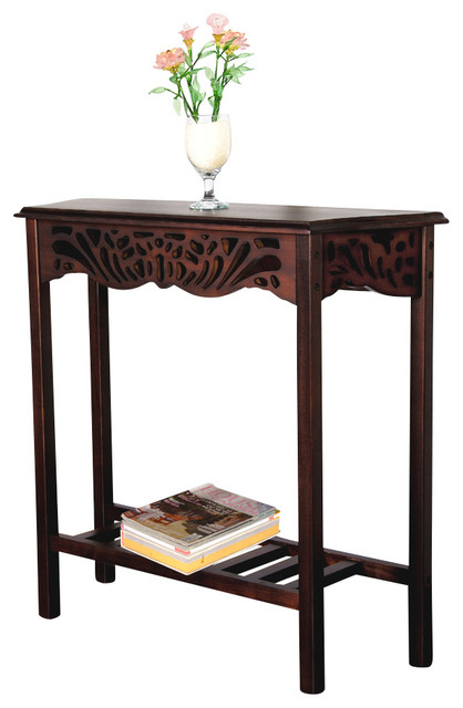 Mahogany Entrance Wall Table Traditional Console Tables