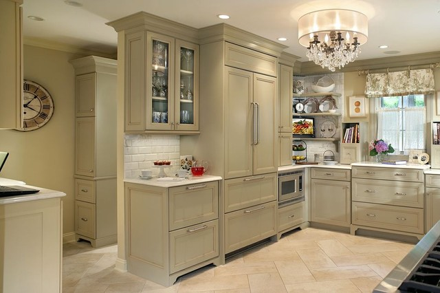 professional photos published of olive green kitchen eclectic - Green Kitchen Cabinets