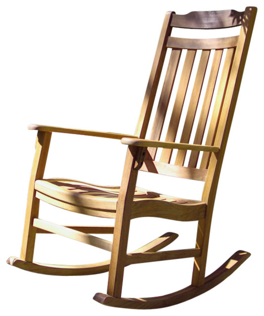 Autumn Rocker Natural Oil Finish  Traditional  Outdoor Rocking