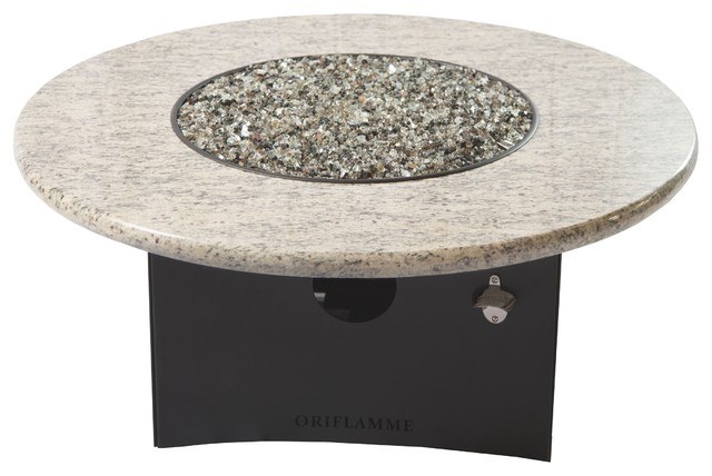 Oriflamme Outdoor Fire Pit, Gray Granite Gas Fire Pit ...