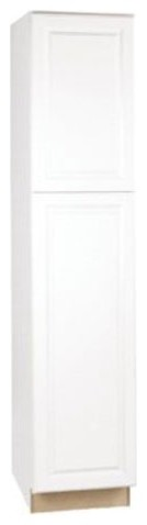"""Rsi Home Products Pantry, Fully Assembled, Raised Panel, White, 18""""x84""""x24""""."""