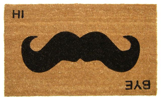 Mustache Hi Bye Doormat.