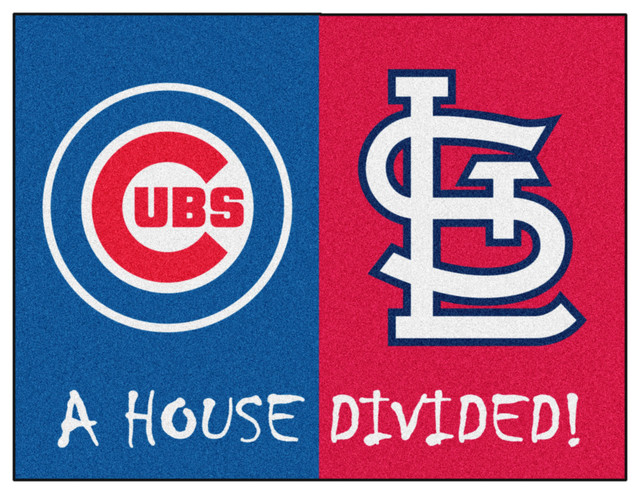 Mlb Chicago Cubs St Louis Cardinals House Divided Rugs