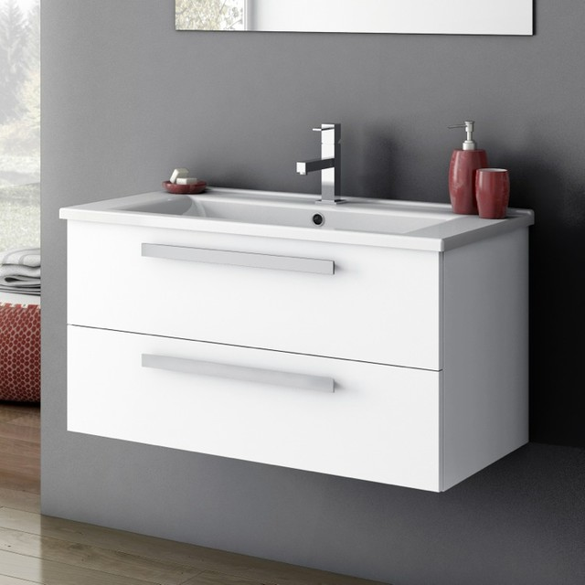 33 inch bathroom vanity cabinet 33 inch vanity cabinet with fitted sink contemporary 21809