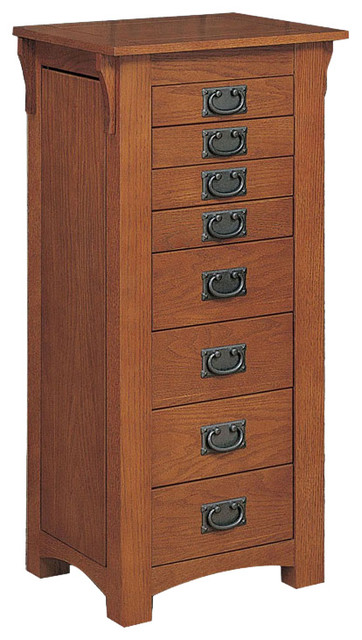 Mission Oak Jewelry Armoire Transitional Jewelry Armoires by