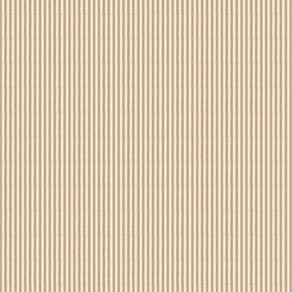 Beige Pinstripe Cotton Fabric