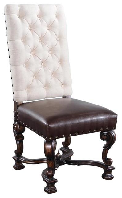 Side Chair Dining Barcelona Ornate Wood Legs