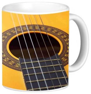 Guitar Coffee Mug - Contemporary - Mugs - by Rikki Knight LLC
