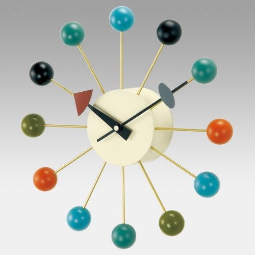 George Nelson Ball 13 Inch Wall Clock by Kirch