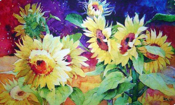 Summer Sunflower Doormat.