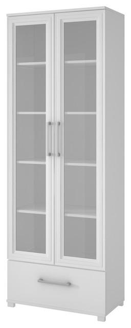 Accentuations By Manhattan Comfort Serra 10 5-Shelf Bookcase, White.