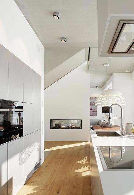Fußner Kühne split level wohnen an der lechleite minimalistisch münchen