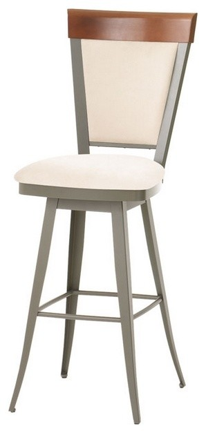 Traditional high back swivel stool transitional bar for High end bar stools swivel