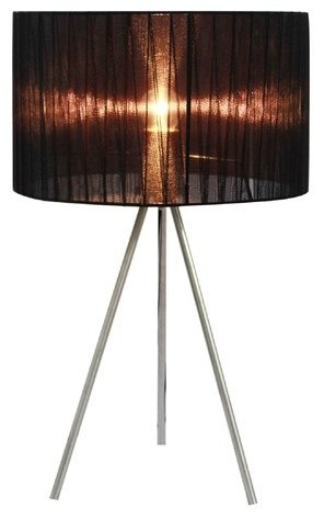 All The Rages Lt2006 Simple Designs 19.69 Height 1 Light Table Lamp With Drum S.