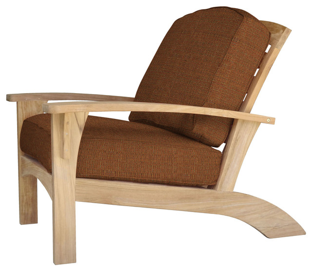 Augusta Deep Seating Club Chair, Chili Outdoor Lounge Chairs