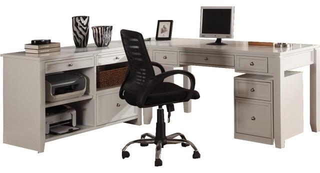 Parker House Boca 4 Piece Writing Desk, Parker House Office Furniture