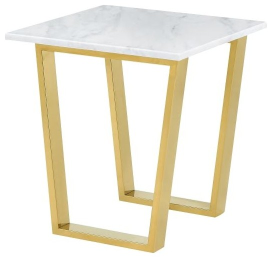 Cameron End Table, Gold