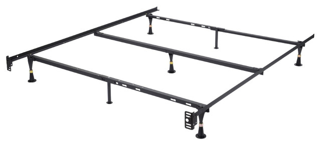 Khome Super Duty 7-Leg Adjustable Metal Bed Frame Center Support ...