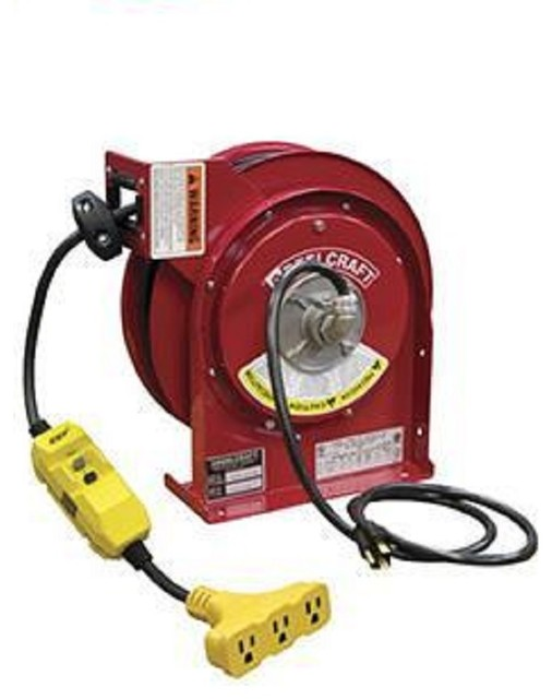 Reelcraft 15 Amp, Tri-Tap Gfci Outlet, With Cord L 4545 123 9g.