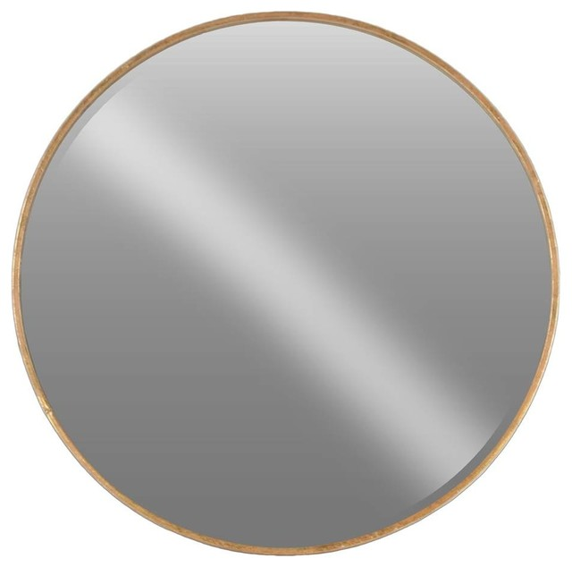 Shop houzz urban trends collection metal mirror for Extra large round mirror