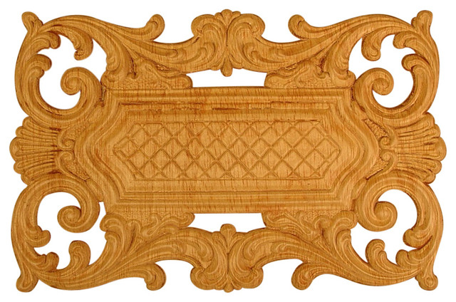 Embossed Wood Applique Onlay 612 9 25 X14 25 Traditional Living