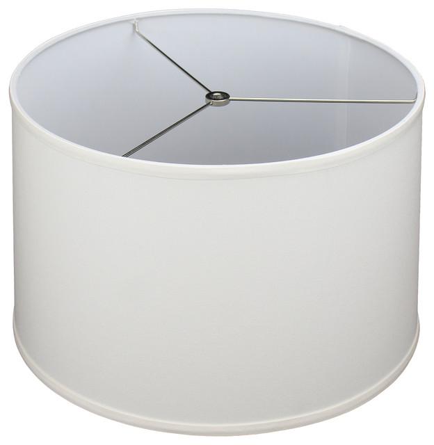 Fenchel Shades 16 X17 X11 Spider, White Drum Lamp Shade