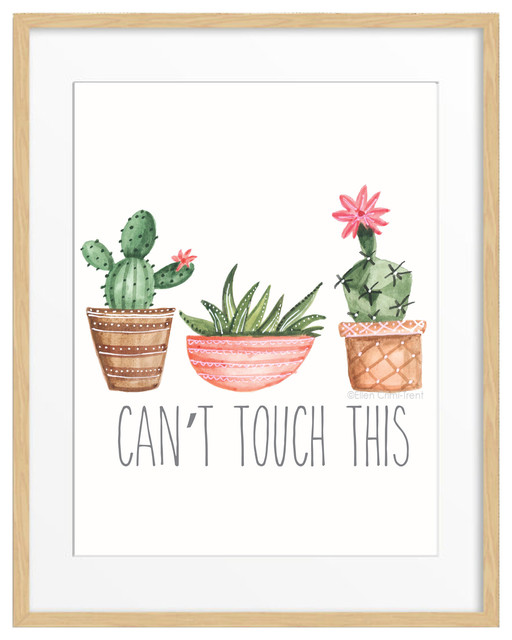 """""""can&x27;t Touch This"""" Succulent Print, 11""""x14""""."""