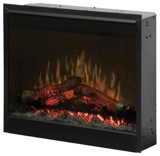 Shop houzz dimplex dimplex df2608 dimplex firebox 26 self trimming plug in electric firebox - Contemporary electric fireplace insert accessories ...