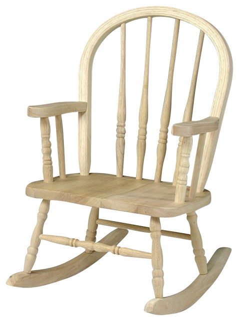 Charmant International Concepts Unfinished Windsor Rocker