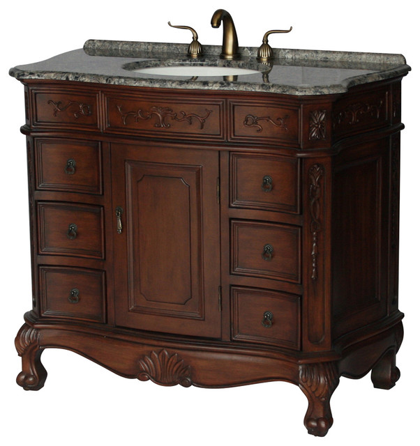 Antique Style Single Sink Bathroom