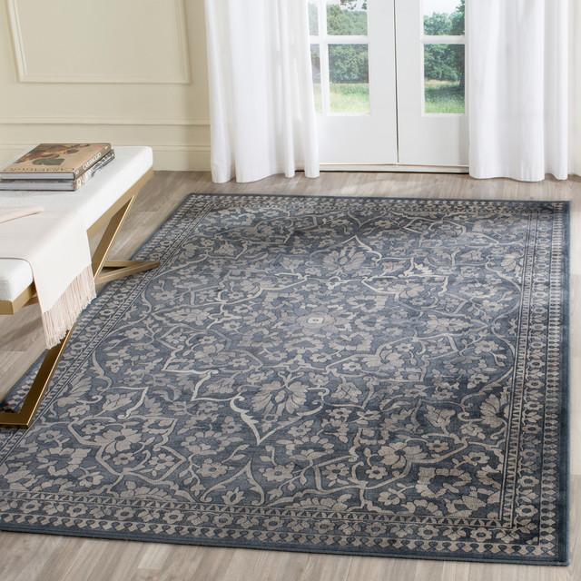 "Safavieh Vintage Inspired Rug, Blue/light Gray, 5&x27;3""x7&x27;6""."
