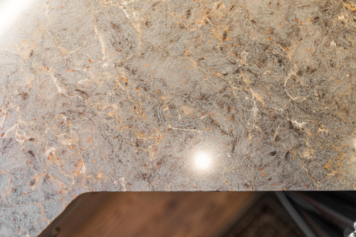 copper flaked countertops