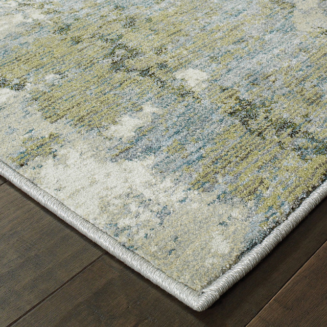 Elements Illusion Blue Green Area Rug