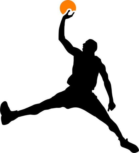 Air Jordan Basketball Stencil Contemporary Wall