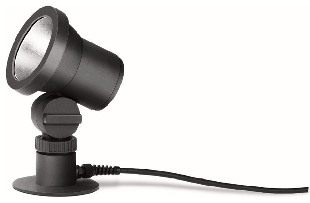 LED Compact Floodlight With Earth Spike, Graphite