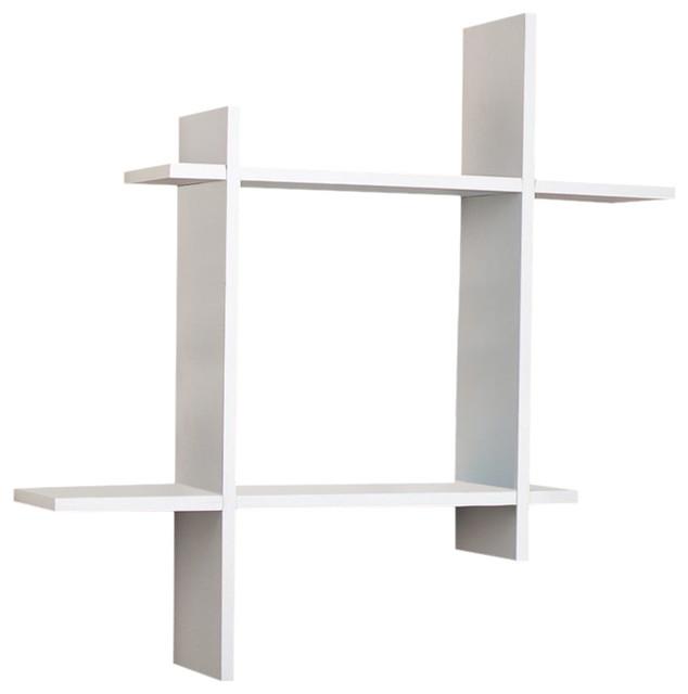 Shop Houzz Danya B Danya B Ff6014b Asymmetric Wall Shelf