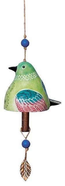 Studio M Hummingbird Bird Beautiful Unique and Vibrant Ceramic Bell Wind Chime