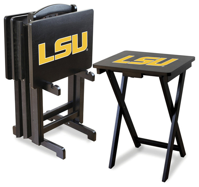 LSU Tigers Folding TV Tray Tables Contemporary Tv Trays