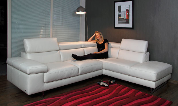 Sofa Chaise Recliner Milano Leather Corner Sofa