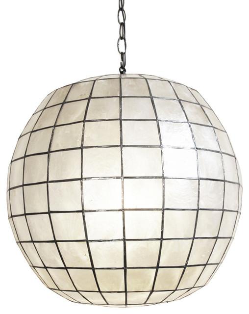 capiz shell globe lantern eclectic lighting by. Black Bedroom Furniture Sets. Home Design Ideas