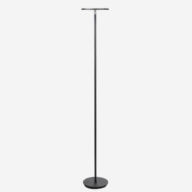 Brightech Sky Flux LED Torchiere Floor Lamp, Brushed Nickel