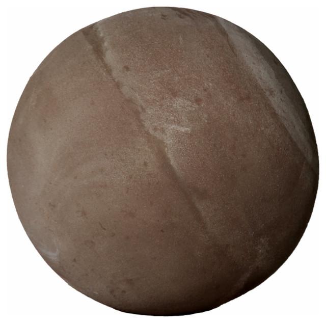 Sako Extra Large Garden Ball Sculpture, Etruscan Clay