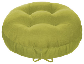 Cotton Duck Pear Green Barstool Cover Cushion and Adjustable Yoke, Standard