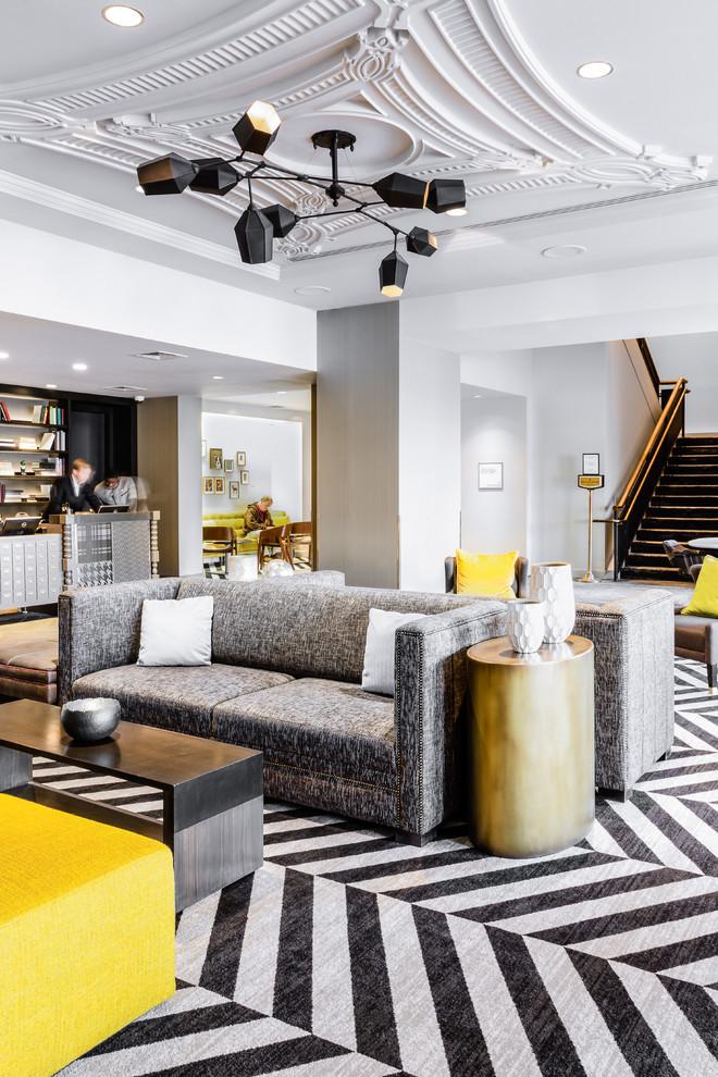 Trendy home design photo in Boston