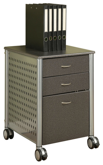 Mobile Filing Cabinet Printer Stand with 2 Office Storage Drawers - Office Carts And Stands - by ...