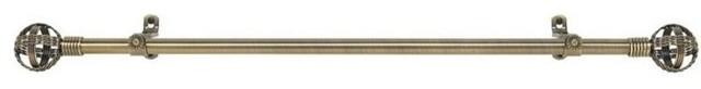 "Metallo Decorative Rod And Finial Cosmo, 66""-120""."