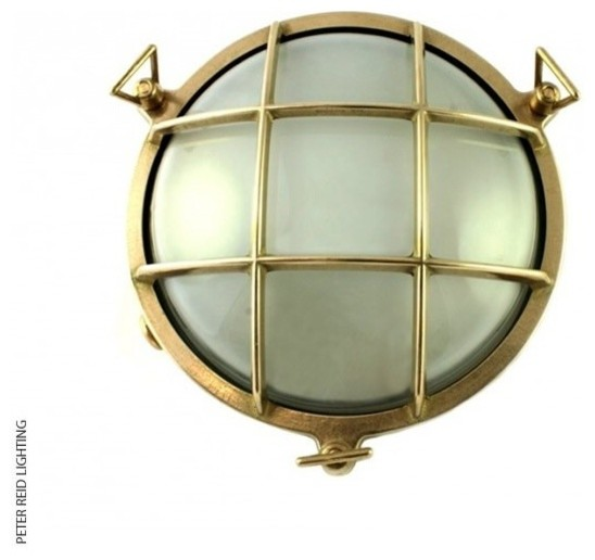 Small Exterior Wall Lights : Foresti + Suardi 2028B Small Round Bulkhead LED - Industrial - Outdoor Wall Lights - by Peter ...
